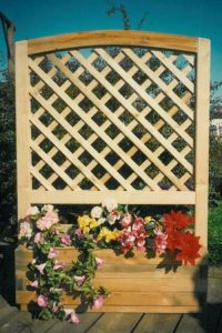 Garten Blumenkasten Rankgitter aus Kanthölzern