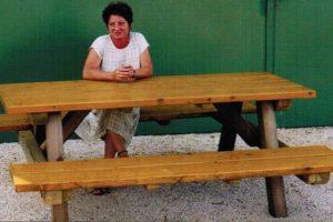 Garten Sitzgarnitur Tisch- Bank Gruppe