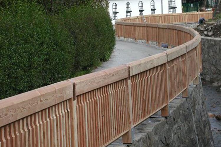 Holz Geländer 5